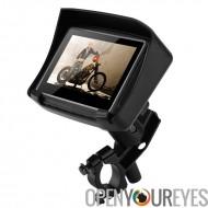Moto GPS Navigation - étanche IPX7, 4,3 pouces tactile écran, 8 Go de mémoire, Slot Micro SD Card, supports de fixation
