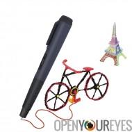 Impression 3D intelligents Pen - température, ergonomique et léger, Arts, artisanat, vitesse réglable + amateurs (noir)