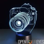 Creative 3D LED lampe - puissance 2 Modes lumière, 7 couleurs, par le biais de Micro USB ou piles AA, 5 Watt
