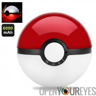 Eclairage LED Pokeball Powerbank - 6000mAh, LED lumière, authentique Pokeball Design, fonction veilleuse Pokeball