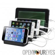 4 ports USB Charging Station-sortie haute puissance 48W / 9.6A, 5V / 2. 4 a par Port, simultanée de charge