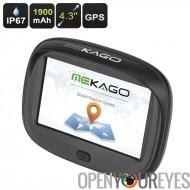 Système de Navigation GPS - Etanche IPX7, Windows CE 6.0, écran de 4,3 pouces, 8 Go de mémoire, 1900mAh, de moto haute précisio