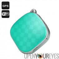 Tracker GPS + localisateur - GSM, Wi-Fi, LBS, Geo guide, appel d'urgence, suivi, Dual Audio (vert) en temps réel