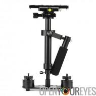 S40 Stabilisateur de caméra de poche - alliage d'aluminium, niveau Sprit, supports réglables + contres poids, longueur 23 à 40
