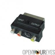 Adapter Péritel vers S-VHS + 3x RCA