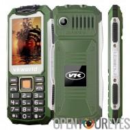 VKWorld Pierre V3S téléphone robuste - IP65 imperméable + épreuve de la poussière, Dual SIM, quadri-bande, 2200MAH batterie (ve