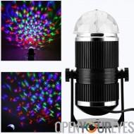 Lumière Disco RGB - 3 Watt, actif sain, jouer de la musique, rotation léger, grands et de superbes effets visuels