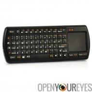 Mini clavier sans fil avec pavé tactile - rétroéclairé à touches, Flash LED Light