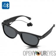 Sans fil Bluetooth lunettes de soleil - TéléRéponse, jouer de la musique, mains libres, portée 15 mètres, 4 heures jouer fois