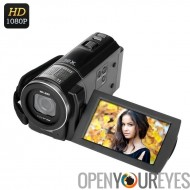 ORDRO Digital Video Camera - 1/4 de pouce capteur de 5MP CMOS, vidéo 1080p, 24 Photos de MP, Anti-Shake, écran tactile LCD