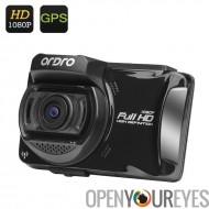 ORDRO X5 voiture DVR - Full HD 1080p, écran LCD de 2,7 pouces, GPS, Wi-Fi, pilote Fatigue rappel, fente pour carte SD, capteur