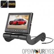Accoudoir central voiture lecteur DVD - écran de 8 pouces, région Free DVD Player, FM Transmitter, haut-parleur intégré, rotati