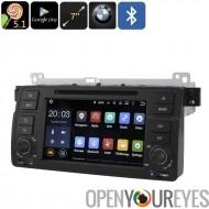 1 DIN voiture lecteur DVD pour BMW Série 3 E46 - jeu Google OS Android, Bluetooth, GPS, écran tactile de 7 pouces, processeur Q