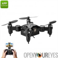 SMAO M1HS Mini Drone - 0.3MP Camera FPV, App, WiFi, un atterrissage principaux et soutien Take Off, feux, 220mAh LED (noir)