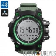 N ° 1 F2 extérieur Bluetooth Watch - IP68, podomètre, altimètre, thermomètre, chronomètre, Support de l'App, appelez le rappel