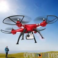 SYMA FPV en temps réel X8HG Drone - 6 axes, Wi-Fi, FPV, appareil photo 8 mégapixels amovible, 1080p, fonction baromètre, portée