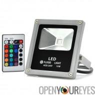 LED lumière d'inondation - 10W, utilisation d'imperméable à l'eau, à l'extérieure, Multicolor, télécommande