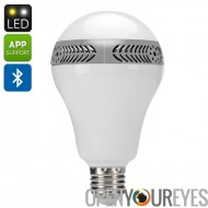 E27 Ampoule LED + haut-parleur - 9,5 watts lumière, 5 Watt Speaker, Bluetooth 4.0, IOS + Android APP