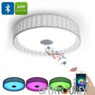 3000 Lumens, Millions de couleurs, Bluetooth LED plafonnier - 36W, Application Mobile, connexion Bluetooth, jouer de la musique