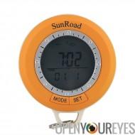 Sunroad SR108S randonnée ordinateur - podomètre Digital 6 en 1, boussole, altimètre, baromètre, thermomètre, prévisions météo