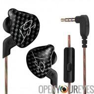 KZ ZST sport Noice écouteurs - micro intégré, son Hi-Fi, unité basse dynamique, décommandant la technologie, 3.5 mm Audio Jack,