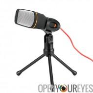 Desktop Microphone à condensateur stéréo - 3,5 mm sortie Jack, Noise Cancellation, trépied de 6 pouces