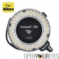 Aputure Amaran HN100 Halo Ring Flash - 100 CRI 95 + LEDs, 8 bagues adaptatrices