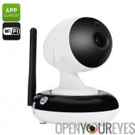 Wi-Fi IP caméra - capteur CMOS de 1/3 po, HD 720p, Zoom optique 3 X, Vision nocturne, visualisation, Wi-Fi, deux voies de Commu