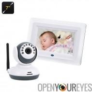 Bébé moniteur + caméra Wi-Fi-1/4 de pouce CMOS capteur, VOX, 7 pouces LCD écran, Vision de nuit