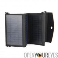 Portable pliable panneau solaire pour le Camping - résistant aux intempéries, pour tablette + Téléphone Mobile charge, 14W, 5.5