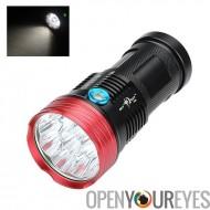 Skyray S99 CREE LED lampe de poche - 9 CREE LEDs, 9600 Lumen, corps en aluminium, 3 Modes, gamme de 100 à 200 mètres