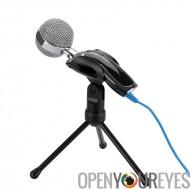 USB condensateur Desktop Microphone - sortie USB, Noise Cancellation, trépied de 6 pouces avec support Clip, léger