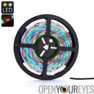 Bande lumineuse LED - RGB de 5050 SMD LED, 5 mètres, de couleur, changement de couleur de 30 émetteurs par mètre, étanche IP65,