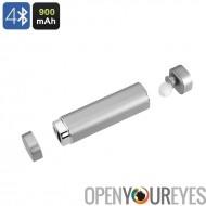Banque de puissance 900mAh oreillette Bluetooth 2 en 1 et Power Bank - micro intégré, conception de crochet d'oreille, en allia