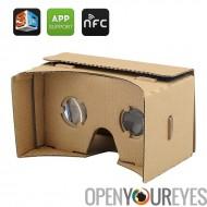 DIY Google carton VR lunettes 3D - lunettes 3D de réalité virtuelle de téléphone Mobile, NFC, pour iPhone + téléphones Android