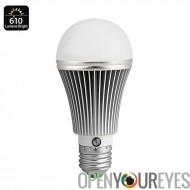 7 watts E27 LED lumière ampoule - 610 Lumen, capteur de 14 LEDs, Temp, vie de 25000 heures de couleur de 4000K