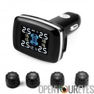Système - 4 capteurs, données en temps réel de surveillance de pression des pneus, la pression des pneus, température des pneus