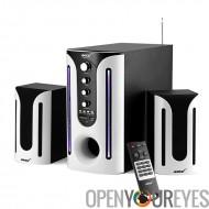AMPEX Subwoofer Haut-parleurs 2.1 canaux, - 30 watts Subwoofer, haut-parleurs 2 X 10 watts, Audio In, USB, carte SD, Radio FM