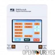 Oscilloscope de poche - écran tactile de 8 bits, 2 mV/Div à 20V/Div sensibilité, bande passante de 2MHz, 1 canal