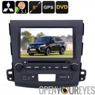 2 DIN DVD de voiture lecteur Mitsubishi Outlander - 8 pouces écran HD, Android OS, processeur Quad-Core, région DVD gratuit, Su