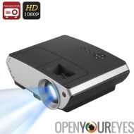 2000 lumen LED projecteur - rapport de contraste de 1500: 1, Projection de 50 à 140 pouces, Support du 1080p, Correction trapé