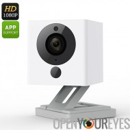 Romaric Wireless IP Camera - FHD, capteur CMOS 1/2,7 pouces, Wi-Fi, iOS Android APP, fumée + CO Detector, Audio bidirectionnell
