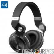 Casque sans fil Bluedio T2 Plus Turbine - pilote de 75mm, Bluetooth 4.1, batterie 220mAh, micro intégré, Mode FM, carte SD, 110