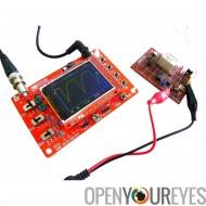 Oscilloscope de poche - Kit bricolage, 1 canal, 0 - 200KHz de bande passante, 50Vpk d'entrée de Code Open Source de tension, éc