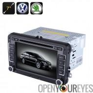 2 DIN lecteur DVD de voiture - écran de 7 pouces, GPS, Bluetooth, région libre, Radio FM, pour VW + voitures Skoda