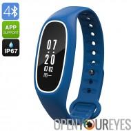 Fitness Tracker Bracelet DB01 - IP67, fréquence cardiaque, pression artérielle, podomètre, compteur de calories, appel rappel,