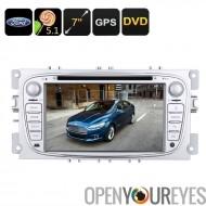 Autoradio DVD 2 DIN - Ford Mondeo (2007 à 2011 modèles), 5.1 Android, GPS, écran 7 pouces, peut Bus, région DVD gratuit