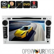 2 DIN lecteur DVD de voiture Opel - GPS, 7 pouces tactile écran, décodeur de CAN-BUS, la prise en charge de Dongle 3G, Wi-Fi, 5