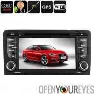 Lecteur DVD voiture 2-DIN pour Audi A3 - OS Android, WiFi, GPS, écran 7 pouces, Google Play, processeur Quad-Core