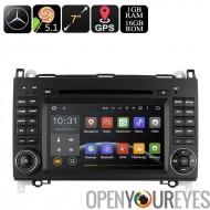 Autoradio DVD double DIN pour Mercedes-Benz B200 - soutien Dongle de 7 pouces, Android OS, processeur Quad-Core, 3G, GPS, Wi-Fi